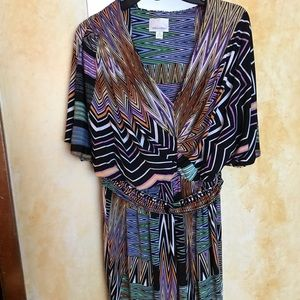 Gorgeous Multi-colored, Graphic, Print Dress